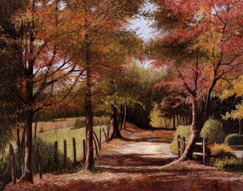 Autumn Country Road Fine Art Print By Lene Alston Casey At