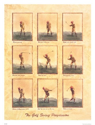 Framed Golf Swing Progression(S) Print