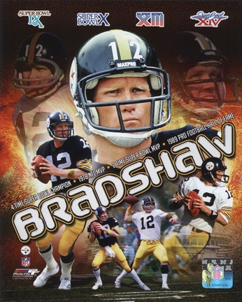 Framed Terry Bradshaw Portrait Plus Print