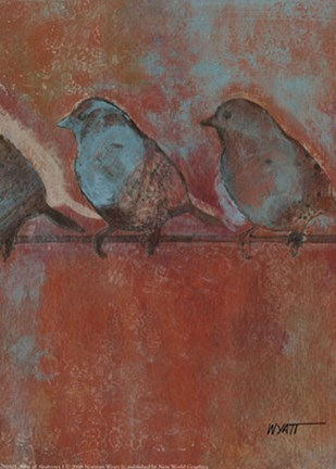 Framed Row of Sparrows I Print