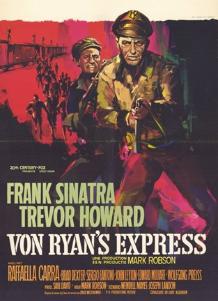 Framed Von Ryan's Express - red Print