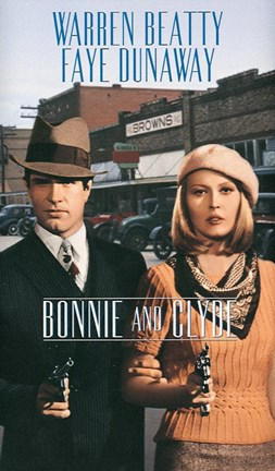 Framed Bonnie and Clyde Faye Dunaway Print