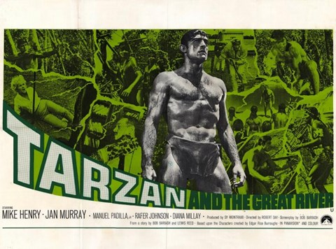 Framed Tarzan and the Great River, c.1967 - style B Print