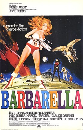 Framed Barbarella Bright Colors Print