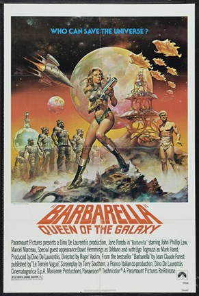 Framed Barbarella Queen of the Galaxy Print