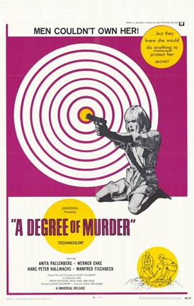 Framed Degree of Murder Print