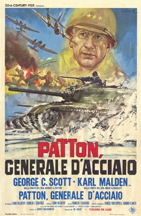 Framed Patton - Italian Print