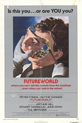 Framed Futureworld Peter Fonda Print