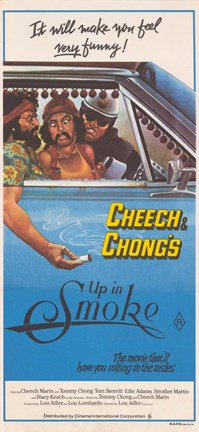 Framed Cheech and Chong's Up in Smoke Cheech Marin Print