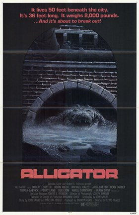 Framed Alligator - movie poster Print