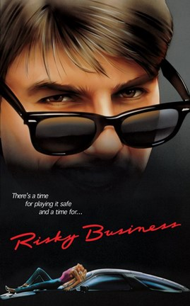 Framed Risky Business Playing Safe Quote Print