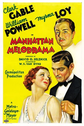 Framed Manhattan Melodrama Gable Powell Loy Print