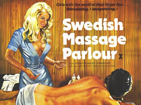 Framed Swedish Massage Parlour Print