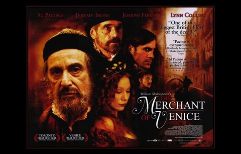 Framed Merchant of Venice Al Pacino Print