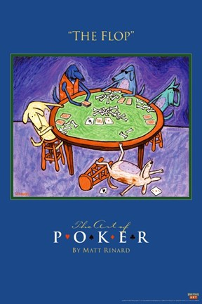 Framed World Series of Poker The Flop Animals Print