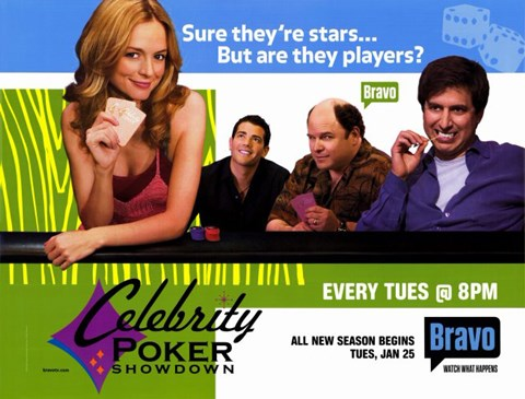 Framed Celebrity Poker Showdown Print