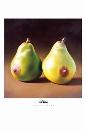 Framed Pair of Pears Print