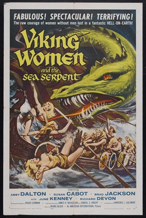 Framed Viking Women and the Sea Serpent Print