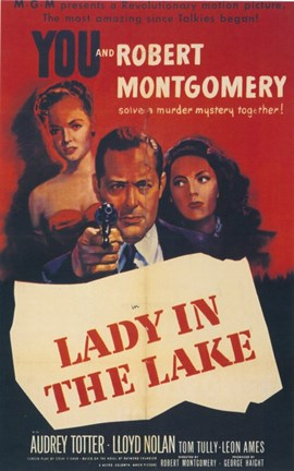 Framed Lady in the Lake Movie Print