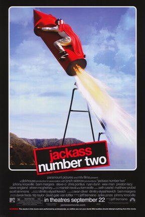 Framed Jackass: Number Two - rocket Print
