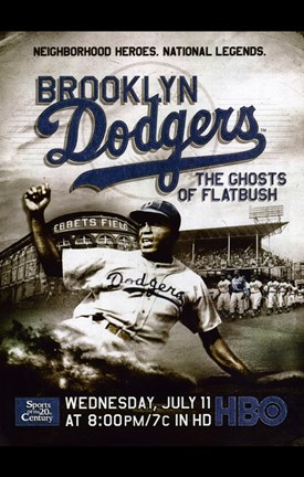 Framed Brooklyn Dodgers: The Ghosts of Flatbush Print
