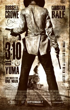 Framed 3:10 to Yuma Sepia Print
