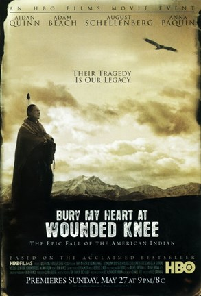 Framed Bury My Heart at Wounded Knee - their tragedy is our legacy Print