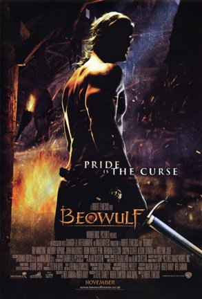 Framed Beowulf Pride is the Curse Print