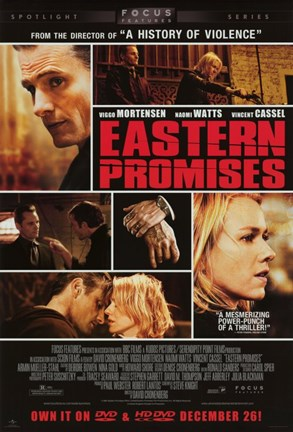 Framed Eastern Promises Movie Print