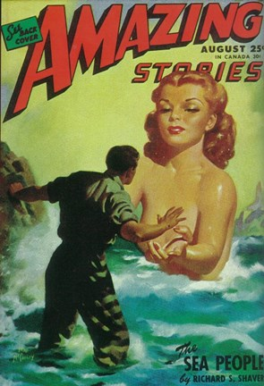 Framed Amazing Stories (Pulp) Print