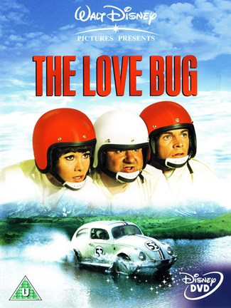 Framed Love Bug - red helmets Print
