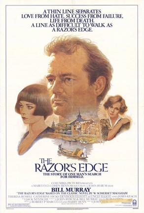 Framed Razor's Edge Bill Murray Print