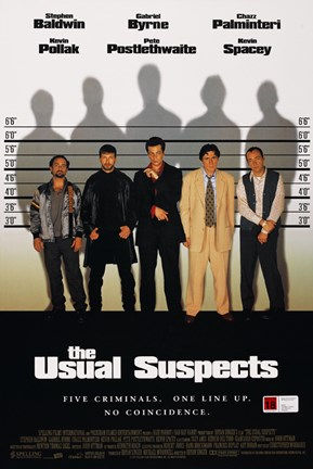 Framed Usual Suspects - movie poster Print
