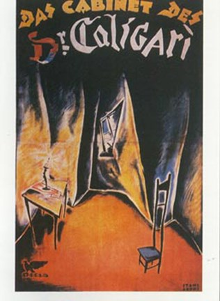 Framed Cabinet of Dr. Caligari - chair Print