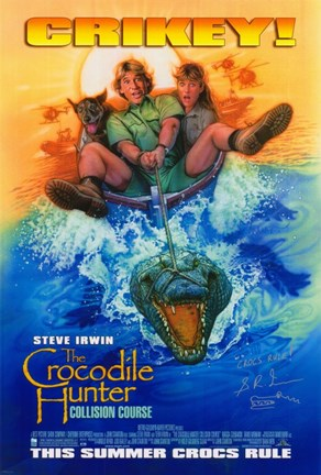 Framed Crocodile Hunter: Collision Course - Crikey! Print