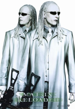 the matrix reloaded the twins fine art print by unknown at