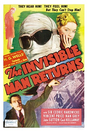 Framed Invisible Man Returns Print