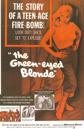 Framed Green-Eyed Blonde Print
