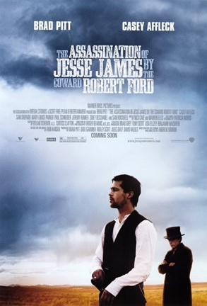 Framed Assassination of Jesse James by the Coward Robert Ford - field Print