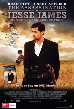 Framed Assassination of Jesse James by the Coward Robert Ford Print