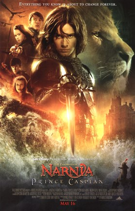 Framed Chronicles of Narnia: Prince Caspian characters Print