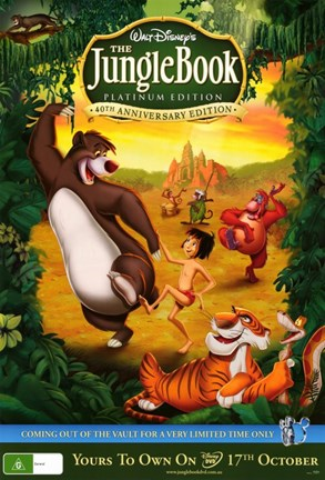 The Jungle Book Dvd Cover Fine Art Print By Unknown At