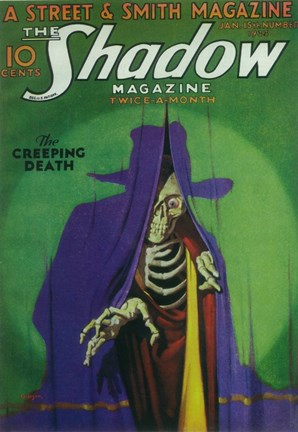 Framed (Pulp) Shadow Magazine Creeping Death Print