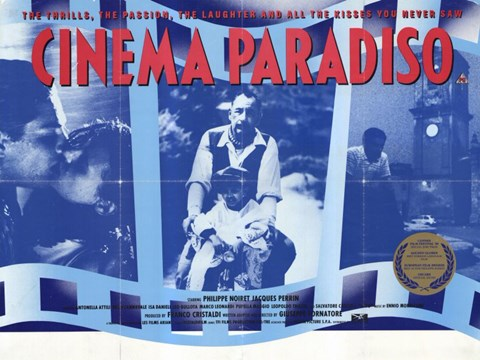 Framed Cinema Paradiso Blue Print