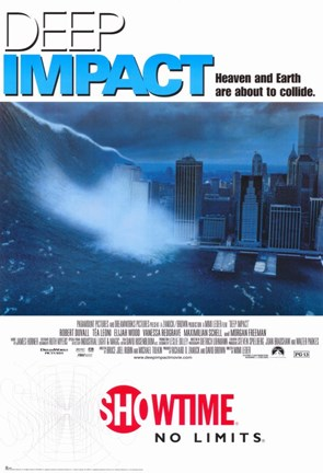 Framed Deep Impact Film The City View Print