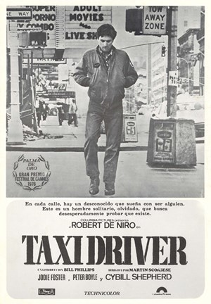 Framed Taxi Driver Gray Print