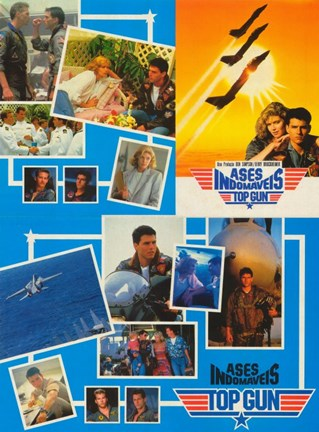 Framed Top Gun Collage Print