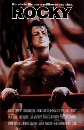 Framed Rocky His Whole Life was a Million to One Shot Print