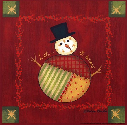 Let It Snow Fine Art Print By Becca Barton At