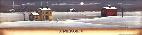 Framed Winter Peace Print